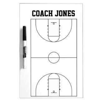 Trocknen Sie Löschen-Brett für Basketball-Trainer Memoboards