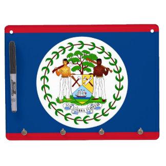 Trocknen Sie Löschen-Brett mit Flagge von Belize Trockenlöschtafel Mit Schlüsselanhängern