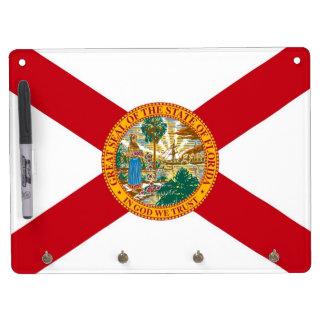 Trocknen Sie Löschen-Brett mit Flagge von Florida, Trockenlöschtafel Mit Schlüsselanhängern