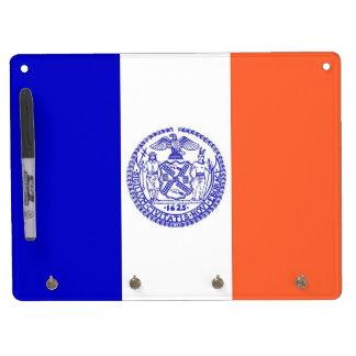 Trocknen Sie Löschen-Brett mit Flagge von New Trockenlöschtafel Mit Schlüsselanhängern