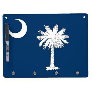 Trocknen Sie Löschen-Brett mit Flagge von South Trockenlöschtafel Mit Schlüsselanhängern