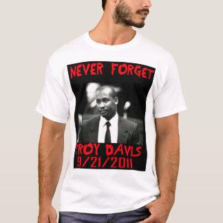 Troja Davis, vergessen nie -- T - Shirt