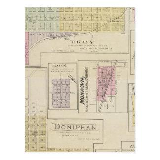 Troja, Doniphan, Larkin, Monrovia, Kansas Postkarte