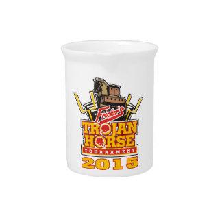Trojan- Horselogo-Entwürfe 2015 Getränke Pitcher