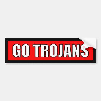 Trojan - schwarzer roter weißer Aufkleber Autoaufkleber