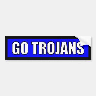 Trojan - schwarzes blaues Weiß Autoaufkleber