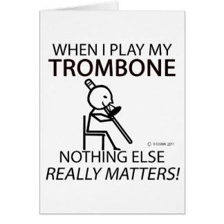 Trombone nichts anderes ist von Bedeutung Karte
