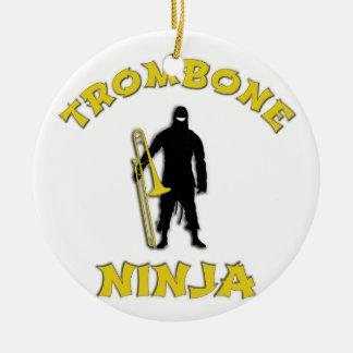 Trombone Ninja Keramik Ornament