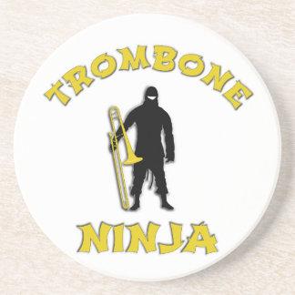 Trombone Ninja Sandstein Untersetzer