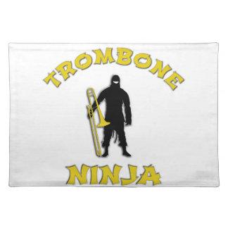 Trombone Ninja Stofftischset