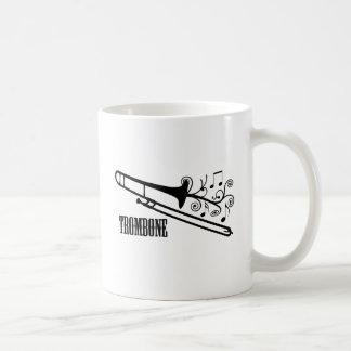 Trombone-vektorentwurf Kaffeetasse