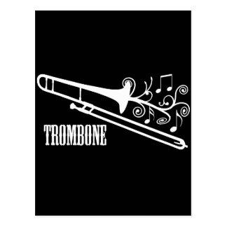 Trombone-vektorentwurf Postkarte