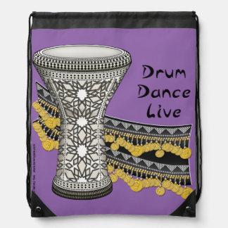 Trommel Danc Live Turnbeutel
