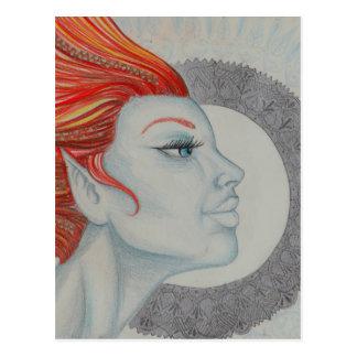 Trommel-Göttin Postkarte