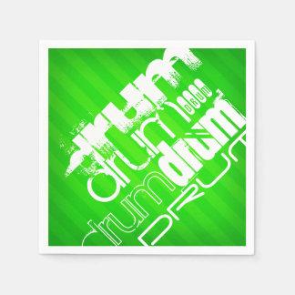 Trommel; Grüne Neonstreifen Serviette