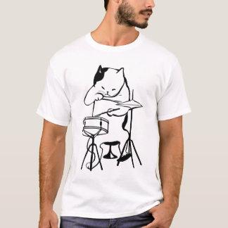 TROMMEL, Katze SCHLAGZEUGER-T - Shirts