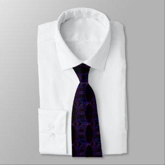 Trommel-Neonfarben in der dunklen Muster-Krawatte Krawatte