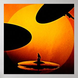Trommel-oder Schlagzeuger-Plakat Poster