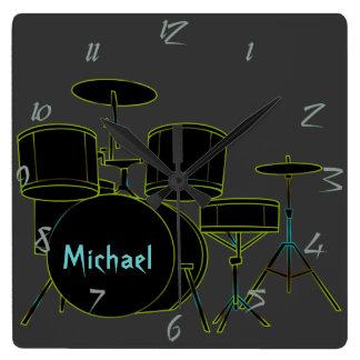 Trommel-personalisierte Wand-Uhr