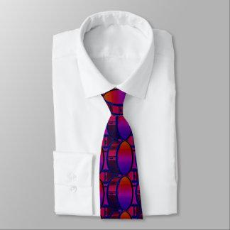 Trommel-rote und blaue Muster-Krawatte Krawatte