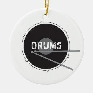 Trommel-Schlagzeuger-Schlagzeug-minimale Keramik Ornament