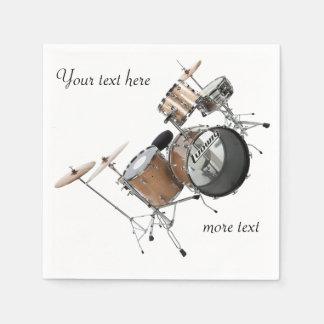 Trommel-Schlagzeuger-Trommel-Set-Band-Musiker Servietten