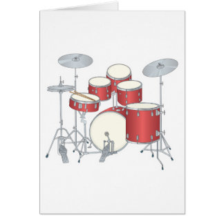 Trommel-Set Grußkarte