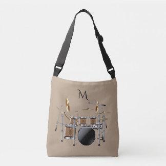 Trommel-Set-Schlagzeuger-Monogramm-Taschen-Tasche Tragetaschen Mit Langen Trägern