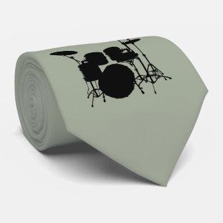 Trommel-Set-Schwarz-Silhouette-Krawatte Krawatte