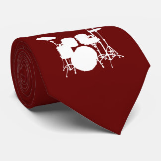 Trommel-Set-weiße Silhouette-Krawatte Krawatte