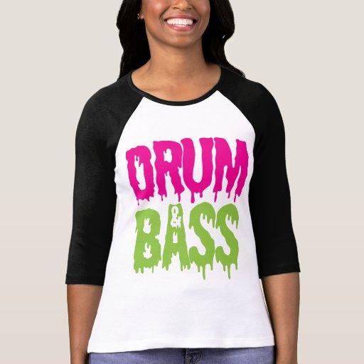 Trommel u. Bass-Baseball-T - Shirt