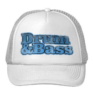 Trommel und Bass-Blau Baseball Caps