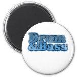 Trommel und Bass-Blau Kühlschrankmagnete