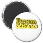 Trommel-und Bass-Gelb Magnete