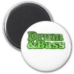 Trommel-und Bass-Grün Kühlschrankmagnete
