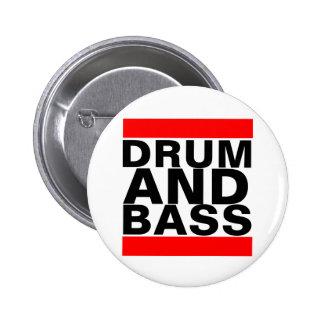 Trommel und Baß Runder Button 5,1 Cm