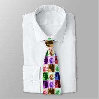 Trommel-und Trommel-Set-Pop-Kunst-Krawatte Krawatte