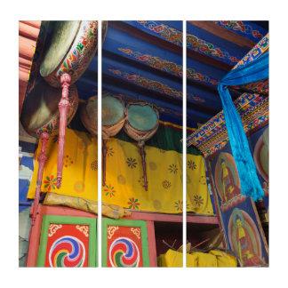 Trommeln innerhalb eines Tempels Triptychon
