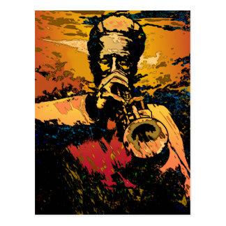 Trompete-Feuer Postkarte