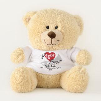 Trompete-Liebe-kundenspezifischer marschierendes Teddybär