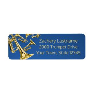 Trompete-Manie-Gold und Blau