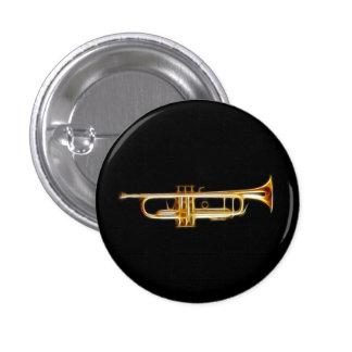 Trompete-Messinghorn-Wind-Musikinstrument Runder Button 2,5 Cm