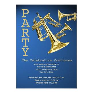 Trompete-Musik-Bar Mitzvah Empfang 11,4 X 15,9 Cm Einladungskarte