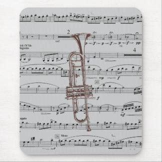 Trompete-Musik Mauspad
