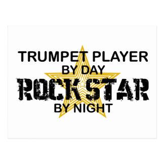 Trompete-Rockstar bis zum Nacht Postkarte