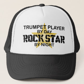 Trompete-Rockstar bis zum Nacht Truckerkappe