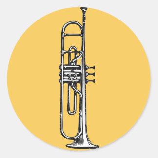 Trompete Runder Aufkleber