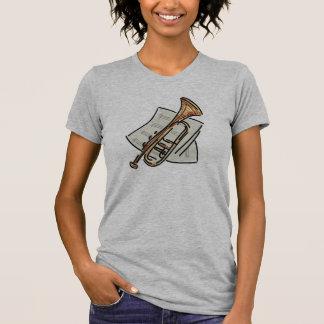 Trompete und Noten T Shirts