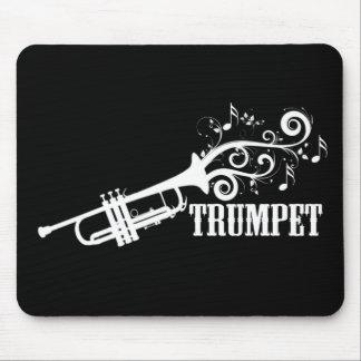 Trompete-Vektor mit Wirbel Mauspads