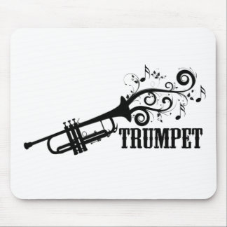 Trompete-Vektor mit Wirbel Mousepads